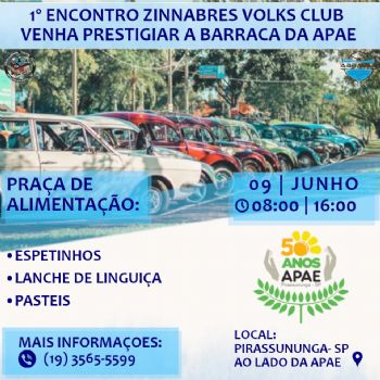 1° Encontro Zinnabres Volks Club